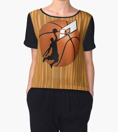 Slam Dunk Basketball Player Women's Chiffon Tops  #sports4you -  by #Gravityx9