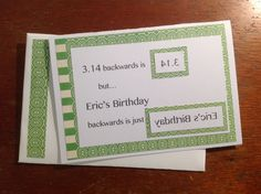 """Pie day card - maybe say the word """"party"""" backwards. Would make a cute invitation."""