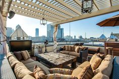 Lounge seating and a great view