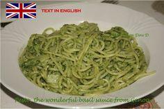 Pesto, the wonderful basil sauce from Genoa