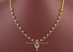 Diamond Necklace Los Angeles over Simple Diamond Necklace Set Cost from Simple Diamond Necklace Set Designs to Jewellery Online Pune till Simple Diamond Necklace Designs For Wedding With Price Simple Necklace Designs, Diamond Necklace Simple, Gold Jewelry Simple, Gold Earrings Designs, Gold Jewellery Design, Diamond Pendant, Diamond Jewelry, Indian Diamond Necklace, Diamond Bracelets