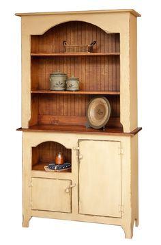 Primitive Country Furniture | Primitive Furniture Hutch Decor Country Colonial Kitchen Cottage Pine ...
