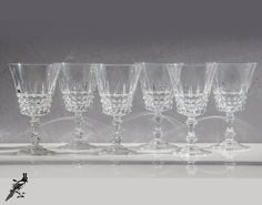 Beautiful Vintage Cut Crystal Wine Glass/Water by TheCordialMagpie