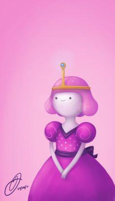 Adventure Time Princess bubblegum me AGAIN on my laptop...