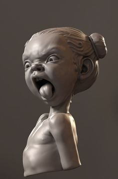 Fun sculpture by mikkamakka using Zbrush