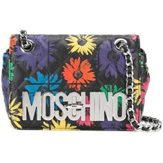 Moschino Floral Quilted Crossbody Bag ($580) ❤ liked on Polyvore featuring bags, handbags, shoulder bags, quilted leather shoulder bag, quilted crossbody, leather cross body purse, leather shoulder handbags and leather crossbody purse