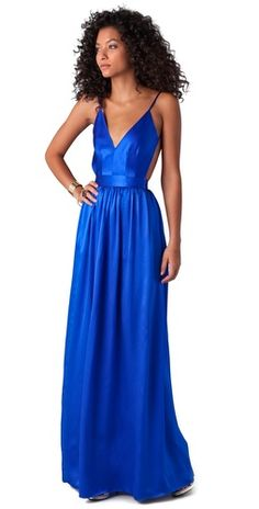 ONE by Contrarian Babs Bibb Maxi Dress in Sapphire