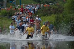do a mud run/obstacle course