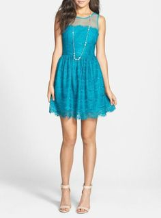 Love! A sweet lace skater dress