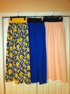 DIY Maxi Skirts #clothing #sewing
