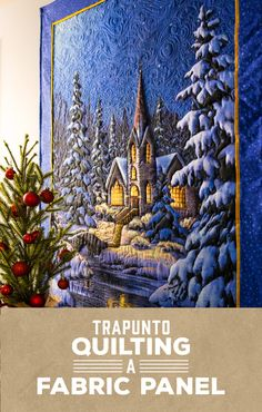 "Jazz up a fabric panel with some trapunto quilting! Watch the Man Sewing ""Trapunto Quilting A Fabric Panel"" to learn how!"