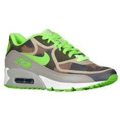 finest selection 30586 4a6ee Nike W Air Max 90 Premium Tape - Womens - Linen Mine Grey Cargo Khaki Flash  Lime  Go for a cool, retro look in the Nike Air Max The running shoe offers  you ...