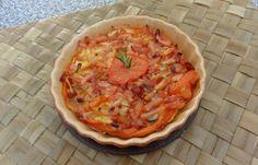 Régime Dukan (recette minceur) : Tarte aux tomates et allumettes fumées #dukan http://www.dukanaute.com/recette-tarte-aux-tomates-et-allumettes-fumees-11549.html