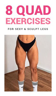 My quad workouts will spice up your leg day routine. They are the 8 best quad exercises for women. Try out these leg workouts at home to tone your legs. Quad Workouts At Home, Leg Workouts For Men, Best Leg Workout, At Home Workouts For Women, Leg Workout At Home, Monday Workout, Butt Workouts, Leg Workout Women, Quad Exercises
