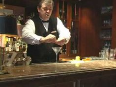 Stir don't shake---Gin.  Shake don't stir--Vodka.  ▶ New Orleans best cocktails: The Martini - YouTube