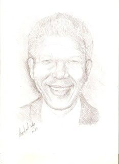 Mandela-tecnica lapiz