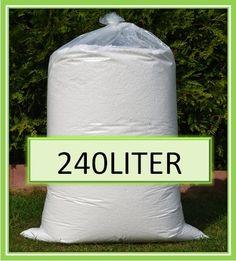 240L Sitzsack Füllung Füllmaterial Styroporkügelchen Dämmung weiß 0,06€/Liter | eBay