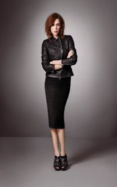 Pencil Skirt + Leather Jacket?  Don't mind if I do!