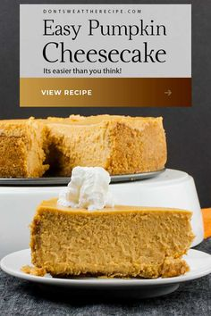 Pumpkin pie has nothing on this fall-flavored dessert. This easy pumpkin cheesecake recipe delivers the creamy smooth pumpkin flavor of your dreams! Best Pumpkin Cheesecake Recipe, Oreo Cheesecake Bars, Pumpkin Recipes, Fall Desserts, Christmas Desserts, Delicious Desserts, Dessert Recipes, Pastries Recipes, Thanksgiving Decorations