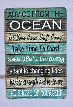 Ocean Advice - Metal Sign - Beach decor - Home Decor - Boating Sign - Gift Idea | beachy | decor | coastal | gift idea | ad | #beachy #decor #giftidea #coastal #ad