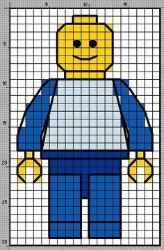 lego cross stitch patterns - Crochet / knit / stitch charts and graphs Cross Stitch For Kids, Cross Stitch Baby, Cross Stitch Charts, Cross Stitch Designs, Cross Stitch Patterns, Hama Beads Design, Hama Beads Patterns, Beading Patterns, Cross Stitch Bookmarks