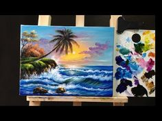 LONDON Landcape Impressionist Acrylic Painting Tutorial LIVE #Valentines #Angelooney Event - YouTube