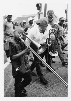 Young Trombone Shorty on North Rampart Street, New Orleans. Great photo by Ed Newman http://www.flickr.com/photos/ednewman/4408765896/in/photostream/