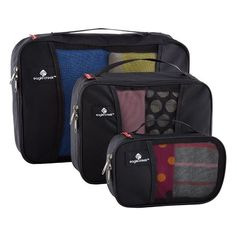 Make use out of every inch of your travel bag. Our Eagle Creek™ Pack-It™ Cubes come in a set of three different sizes so you can create a custom fit for your backpack, luggage or duffel!