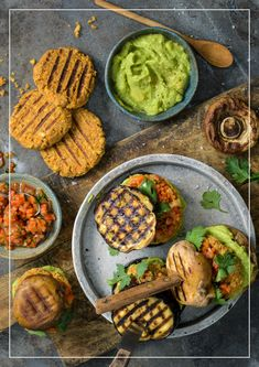Gemüse-Burger Guacamole, Grillin And Chillin, Burger, Bbq, Veggies, Mexican, Ethnic Recipes, Food, Chic Peas