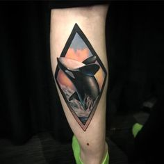 Orca tattoo by Anali De Laney