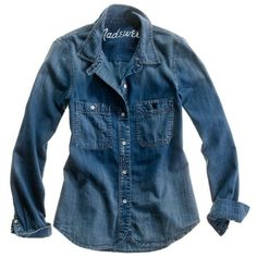 MADEWELL Denim Boyshirt in Campground Wash (92 CAD) ❤ liked on Polyvore featuring tops, blouses, shirts, denim, campground, madewell, shiny blue shirt, blue denim shirt, denim blouse and shiny shirt