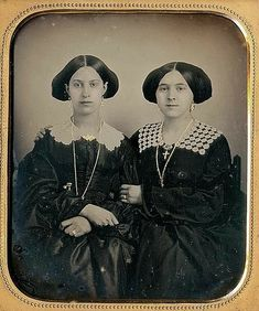Chic sisters...Ca. 1860