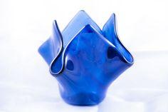 Fused Glass Votive, or Pillar Candle holder or vase.