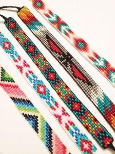 Bead Loom Patterns 80123 DIY Bead Loom Bracelets – Where to Buy Pretty Beads Loom Bracelet Patterns, Seed Bead Patterns, Bead Loom Bracelets, Beading Patterns, Beading Ideas, Jewelry Patterns, Stitch Patterns, Embroidery Bracelets, Mosaic Patterns