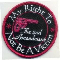 MY RIGHT TO NOT BE A VICTIM Funny QUALITY MOTORCYCLE Biker Vest Patch! PAT-3011 - http://weirdthingstobuy.net/my-right-to-not-be-a-victim-funny-quality-motorcycle-biker-vest-patch-pat-3011