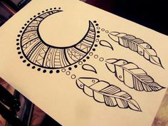 Fabulous Drawing On Creativity Ideas. Captivating Drawing On Creativity Ideas. Doodle Drawings, Art Drawings Sketches, Tattoo Sketches, Easy Drawings, Doodle Art, Pencil Drawings, Mandala Drawing, Moon Drawing, Drawing Hands