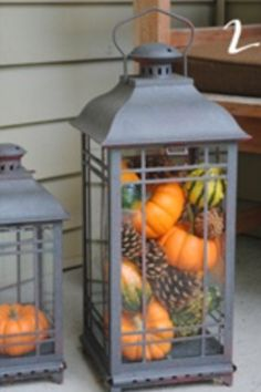 Great fall decorating idea!