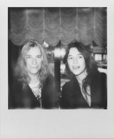 Patti Smith and Charlotte Gainsbourg yesterday in New York at the Cinderella première