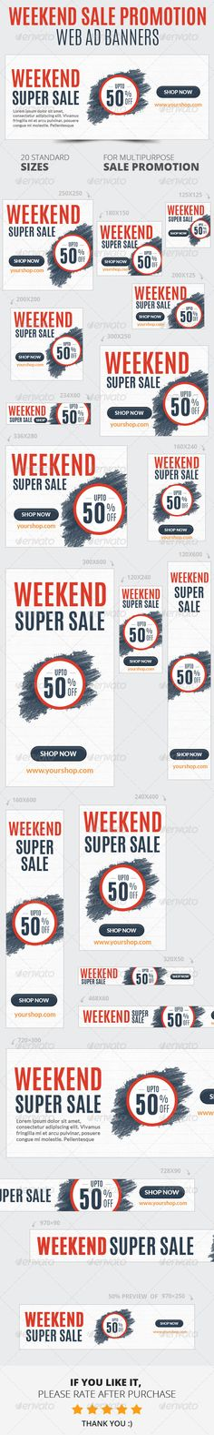 Weekend Sale Promotion Web Ad Banners Template PSD | Buy and Download: http://graphicriver.net/item/weekend-sale-promotion-web-ad-banners/6712533?WT.ac=category_thumb&WT.z_author=webduck&ref=ksioks