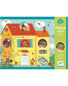 Puzzle THE HOUSE 20-teilig in bunt