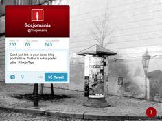 50 Twitter Tips (3). Full presentation: https://www.slideshare.net/Socjomania/the-ultimate-guide-to-twitter-50-useful-tips  #Twitter #TwitterTips #SocialMedia #SocialMediaTips