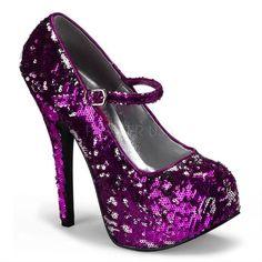 "Bordello Teeze 07 Ladies 5"" heeled shoes UK 6 1/2/US 9/EU 39 #Pleaser #MaryJanes"