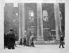 GPO, O'Connell Street, Dublin. Aftermath of 1916 Rising #IrishHistory The year Frances Dunphy was born