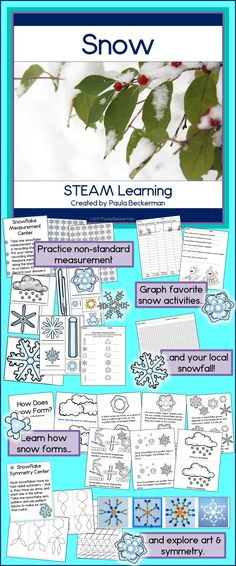 6 fun learning activities for elementary students - check out the snowflake symmetry math center! $