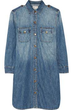 Robe chemise en jean bleu delavé Current:Elliott