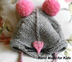 czapka+MYSZKA+44+cm++w+Hand+Made+Lidia+na+DaWanda.com