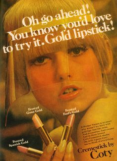 I still do actually. ads gold Throwback Thursday: Vintage Cosmetics Ads