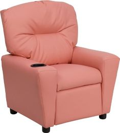 Kidsu0027 Recliners   Flash Furniture BT7950KIDPINKGG Contemporary Pink Vinyl  Kids Recliner With Cup Holder *