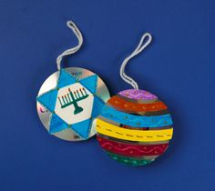 Turn recycled CDs into bedazzling holiday ornaments. Create family keepsakes that sparkle!