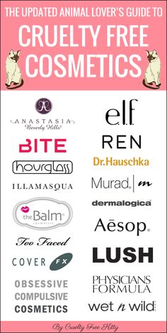 Masterlist of cruelty-free brands by Cruelty Free Kitty. Most popular cruelty-free cosmetics and makeup.